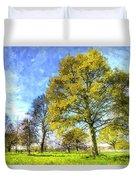 English Summer Farm Art Duvet Cover
