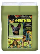 English Toy Terrier Art Canvas Print - Batman Movie Poster Duvet Cover