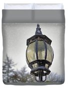 English Victorian Style Park Lamp Duvet Cover