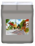 English Village Street Duvet Cover