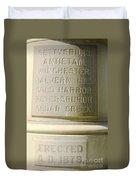 Engraved Duvet Cover