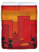 Enjoy Dancing In Red Town P1 Duvet Cover by Manuel Sueess