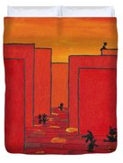 Enjoy Dancing In Red Town P2 Duvet Cover by Manuel Sueess