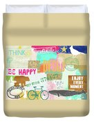 Enjoy Every Moment Collage Duvet Cover
