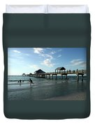 Enjoy The Beach - Clearwater Pier Duvet Cover
