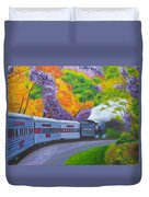 'enjoy Your Journey As Much As Your Destination' Duvet Cover