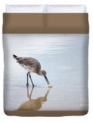 Enjoying A Meal Duvet Cover by Todd Blanchard