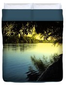 Enjoying The Scenic Beauty Of The Sacramento River Duvet Cover