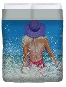 Enjoying The Sea Duvet Cover