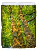 Enlightened Trees Duvet Cover