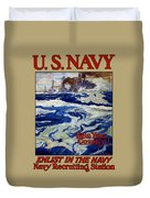 Enlist In The Navy - Help Your Country Duvet Cover