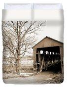 Enochsburg Indiana Covered Bridge Duvet Cover