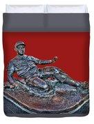 Enos Country Slaughter Statue - Busch Stadium Duvet Cover
