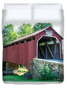 Enslow/turkey Tail Covered Bridge Duvet Cover