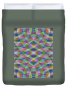 Entangled Curves Two Duvet Cover