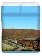 Enter The Kinzua Skywalk Duvet Cover