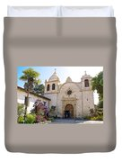 Entering The Church Sanctuary At Carmel Mission-california  Duvet Cover