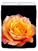 Enticing Beauty The Orange  Rose Duvet Cover