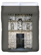 Entrance Facade In Landmark Cathedral Of Santiago De Compostela  Duvet Cover