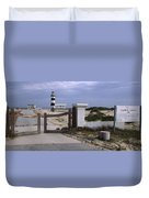 Entrance Of A Lighthouse, Cape Recife Duvet Cover