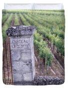 Entrance Of A Vineyard, Chateau La Duvet Cover