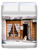 Entrance Paris France Duvet Cover