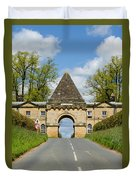 Entrance To Burghley House Duvet Cover
