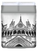Entrance To Royal Courts Of Justice London Duvet Cover