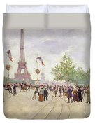 Entrance To The Exposition Universelle Duvet Cover