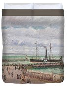 Entrance To The Port Of Le Havre And The West Breakwaters Duvet Cover