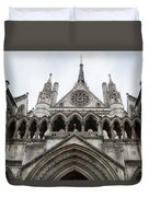 Entrance To The Royal Courts London Duvet Cover