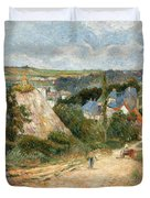 Entrance To The Village Of Osny Duvet Cover