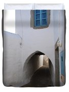 Entrance Tunnel At Monastery Of Saint John The Theologian Duvet Cover