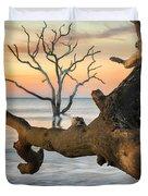 Charleston South Carolina Boneyard Beach Sunrise Scene  Duvet Cover