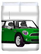 Envy Green Mini Cooper Duvet Cover