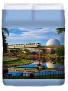 Epcot - Disney World Duvet Cover by Michael Tesar