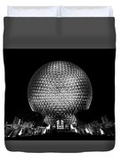 Epcot In Black And White Duvet Cover
