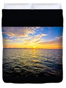 Epic Colorful Sunset On Sea Duvet Cover