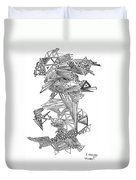 Epitaxy Ink Drawing By Regina Valluzzi Duvet Cover