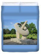Equatorial Sundial Crown Hill Cemetery Indianapolis Duvet Cover