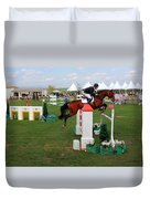 Equestrian Jumping Competition  Duvet Cover