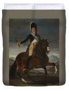 Equestrian Portrait Of Fernando Vii Duvet Cover