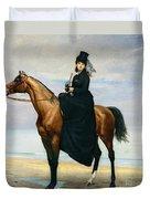 Equestrian Portrait Of Mademoiselle Croizette Duvet Cover