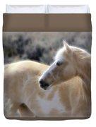 Equine Golden Glow Duvet Cover