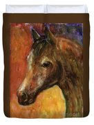 Equine Horse Painting  Duvet Cover