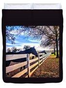 Equine Profiles Duvet Cover