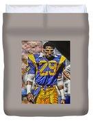 Eric Dickerson Los Angeles Rams Art Duvet Cover