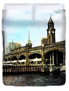 Erie Lakawanna Ferry And Train Station Duvet Cover