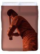 Ernie Banks Sculpture Duvet Cover