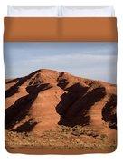 Eroded Hills In Sunset Light Duvet Cover